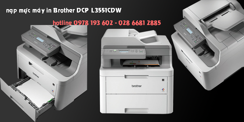 nạp mực máy in Brother DCP L3551CDW